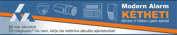 Modern Alarm Kétheti ajánlat Texecom, Optex, Wisenet, Hikvision, Jablotron érzékelők, központok, kamerák, képrögzítők